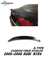 Carbon Fiber Rear Trunk Spoiler Wing For 2005-2008 Audi S4 B7 Sedan 4dr Type A