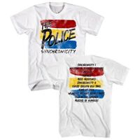 Sting & The Police Synchronicity Album Tracklist Mens T Shirt Rock Concert Merch