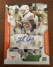 JAMAL CHARLES 2008 UPPER DECK ROOKIE RC AUTOGRAPHED SIGNED AUTO CARD 46 TEXAS