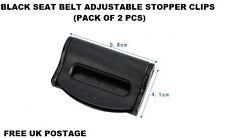 2Pcs BLACK Car Seat Belt Strap Adjuster Stopper Buckle comfort clips Traveling