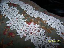 Dentelle ancienne blanc coton AU METRE larg 17 mm fils couleurs n° 199