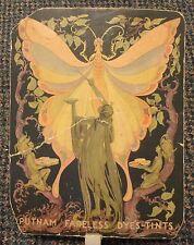 c1915 Putnam Dyes Art Nouveau advertising fan Kampert Rexall Drug Seneca Kansas
