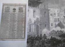 EMOTIU GRABAT DE LA HEROICA DEFENSA DE BARCELONA 1714