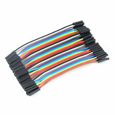 40pcs/Row 10cm 2.54mm Female to Female Wire Jumper Cable 1P-1P Fr Arduino gdNB