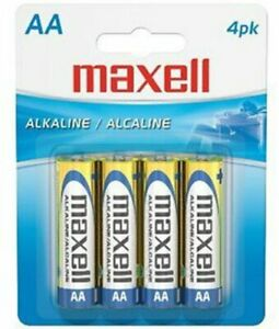 MAXELL 723465 Ready-to-go Long Lasting and Reliable Alkaline AA Battery 4-pk
