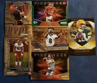 2020 Prizm Football Inserts with Green Parallels and Rookies U Pick Brady Kyler