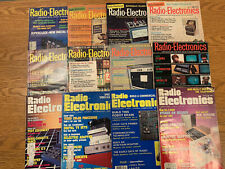 New ListingRadio Electronics Magazine 12 Vintage Issues From 1972-1987