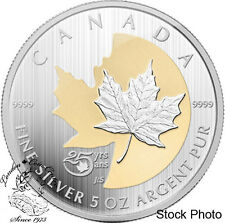 Canada 2013 $50 25th Anniversary of the Silver Maple Leaf 5 oz Coin