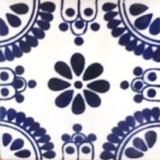 9 Mexican Tiles Wall Or Floor Use Talavera Mexico Ceramic Handmade Pottery C#093