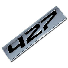 CHROME/BLACK METAL 427 ENGINE RACE MOTOR SWAP EMBLEM BADGE ZZ4 L88 HOT RAT ROD