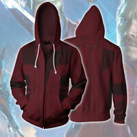 Guardians of the Galaxy 2 Star-Lord Hoodie Sweatshirt Cosplay Costume Avengers
