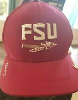 Nike Mens Florida State University FSU Garnet White Gold True Snapback Cap Hat