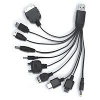 10 in 1 Universal Schwarz USB Kabel Handy Ladekabel Für Alle Geräte