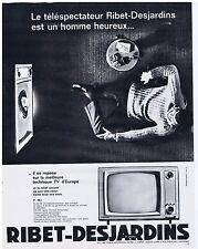 PUBLICITE ADVERTISING 104 1963 RIBET-DESJARDINS téléviseur