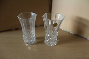 LEAD CRYSTAL FLOWER VASE - 24% FROM ITALY + 1 OTHER