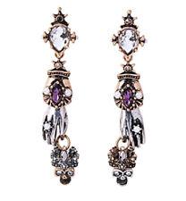 NEW Skull Crown Star Anatomy McQueen Style Rhinestone Pearl Stud Drop Earrings