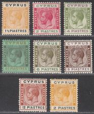 Cyprus 1924-25 King George V Selection to 12pi Mint