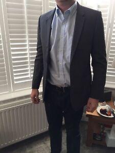 John Lewis Grey 100% Wool Woven in Italy Smart Blazer Jacket Brand New RRP £160