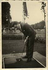 PHOTO ANCIENNE - VINTAGE SNAPSHOT - GOLF HOMME ÉLÉGANCE MODE JEU - GAME FASHION