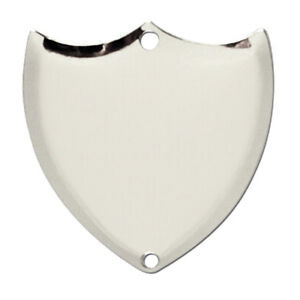 Trophy Side Shield (S024) - Silver / Chrome / (Metal) - With Free Engraving