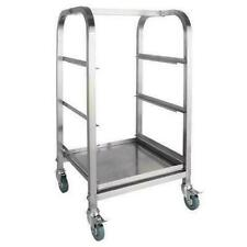 Vogue 3 Tier Glass Racking Trolley for 425mm Baskets CL269