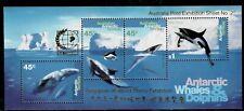 Australian Antartic Territory,Scott#L-97b,Min isheet,Mnh,Whales and Dolphins,