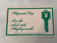 """Vintage Playmate Key """"For The Whole Wide Playboy World"""" Card"""