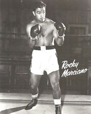 ROCKY MARCIANO 8X10 PHOTO BOXING PICTURE FULL STANCE POSED
