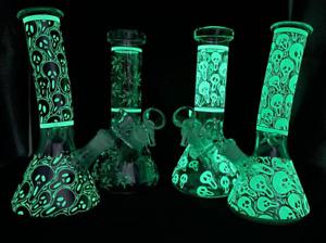 8 Inch Hookah Shisha Bong Pyrex Glass Smoking Water Pipe Ice Catcher Tobacco Kit