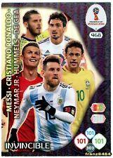 CARD INVINCIBLE n°468 ADRENALYN XL Fifa World Cup RUSSIA 2018 Ronaldo cards rare