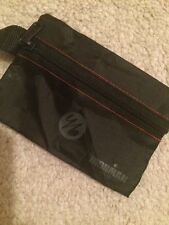 "Small Black Ironman Series Zipper Bag Approx 5""x3"" With Tab Handle"
