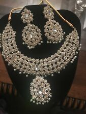 New Wedding Bridal Queen Shiny Rhinestone Necklace Earrings Jewelry Set Dreamed
