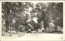 Tamworth NH Street & Cars Real Photo Postcard