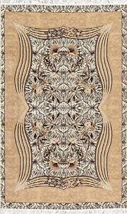 Stunning Soft Floral Ivory Modern Area Rug Turkish Oriental Acrylic Carpet 5x7