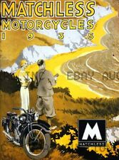 Matchless motorcycle motorcycles 1935 Poster print ca 8 x 10 print poster