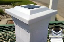 "10-pk Solar White Cap Light With 4 Bright White SMD LED For 5""x5"" PVC/Vinyl Post"