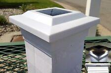 """12-pk Solar White Cap Light With 4 Bright White SMD LED For 5""""x5"""" PVC/Vinyl Post"""