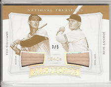 2017 NATIONAL TREASURES ALL DECADE GAME USED BATS TED WILLIAMS/JOHNNY MIZE 3/5