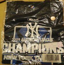 NY Yankees 09 American League Champions World Series Brand New XL Shirt Ship Fre