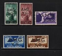 Italy - Venezia Giulia - 6 mint stamps - cat. $ 62.75