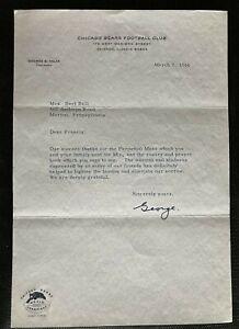 1966 George Halas Signed Autographed Letter Chicago Bears Letterhead w/ Envelope