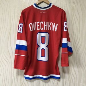 RUSSIA NATIONAL TEAM ICE HOCKEY SHIRT JERSEY LUTCH OVECHKIN #8 РОССИЯ ОВЕЧКИН
