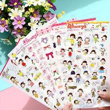 6 sheet bowknot girl envelope sealed diary calendar albums  transparent stickers