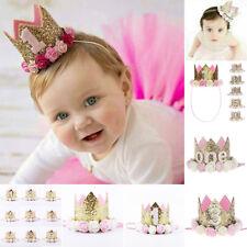 Baby Girls Boys Numbers Birthday Party holiday Crown Hat Headband Hairband Tiara