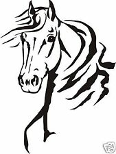HORSE HEAD STICKER DECAL FOR CAR, UTE, 4WD, HORSE FLOAT
