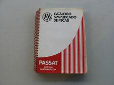VOLKSWAGEN CATALOGO SIMPLIFICADO DE PECAS PASSAT 1500/1600 GASOLINA/ALCOOL