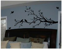 Tree Branch in BLACK MATTE Material - Wall Decal Deco Art Sticker Mural