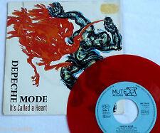 """Depeche Mode-se llama un corazón-Raro Vinilo Rojo alemán 7"""" + FOTO MANGA"""