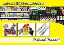 Refusal of sale Log Report / Alcohol, Tobacco and other age restricted products