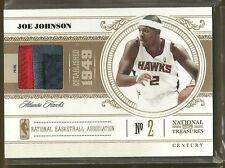 10-11 National Treasures Basketball Joe Johnson Game Used Jersey Patch 22/25